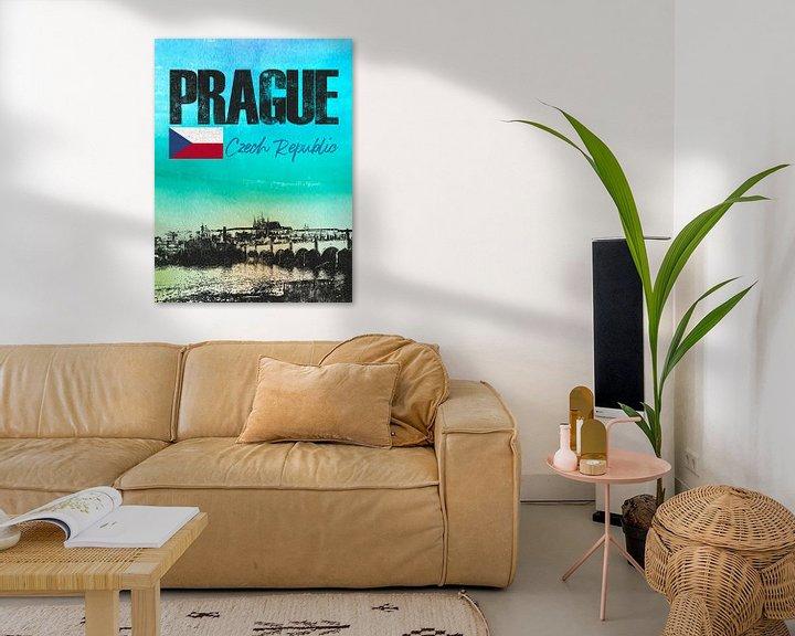 Sfeerimpressie: Praag Tsjechische Republiek van Printed Artings