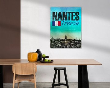 Nantes Frankreich von Printed Artings