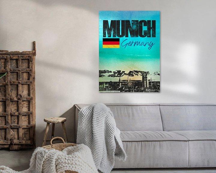 Sfeerimpressie: München Beieren Duitsland van Printed Artings