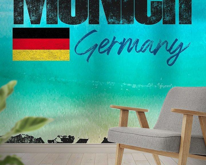 Sfeerimpressie behang: München Beieren Duitsland van Printed Artings