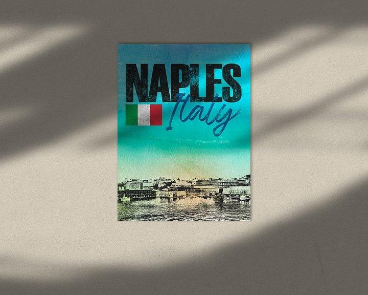 Sfeerimpressie: Napels Italië van Printed Artings