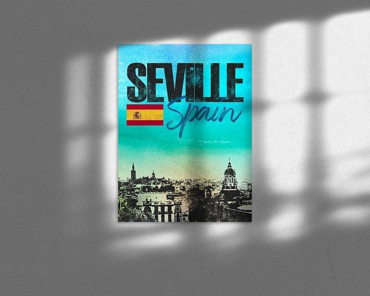 Sfeerimpressie: Sevilla Spanje van Printed Artings