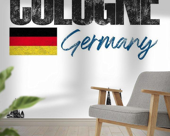 Sfeerimpressie behang: Keulen Duitsland van Printed Artings