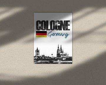 Köln Deutschland von Printed Artings