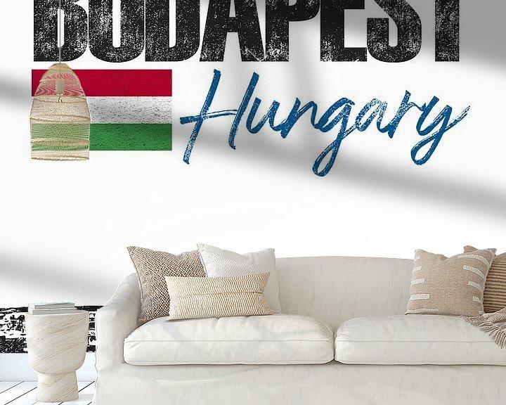 Sfeerimpressie behang: Boedapest Hongarije van Printed Artings