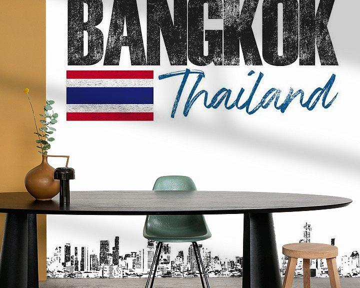 Sfeerimpressie behang: Bangkok Thailand van Printed Artings