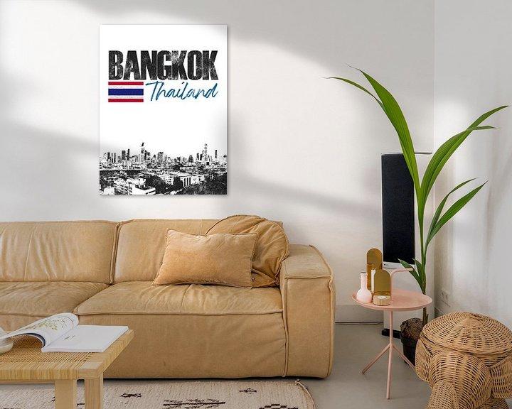 Sfeerimpressie: Bangkok Thailand van Printed Artings