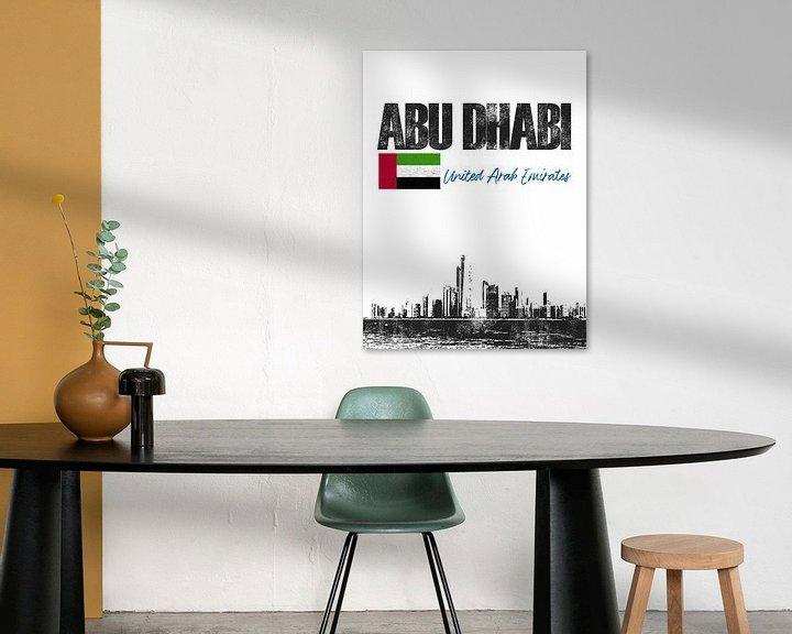 Sfeerimpressie: Abu Dhabi Arabische Emiraten van Printed Artings