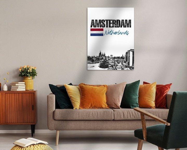 Sfeerimpressie: Amsterdam Nederland van Printed Artings