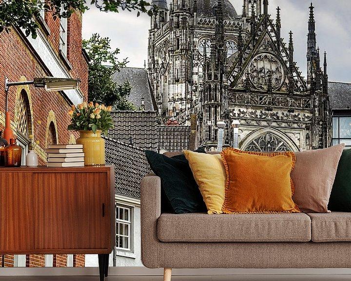 Sfeerimpressie behang: Sint Jan Den Bosch van Jacq Christiaan