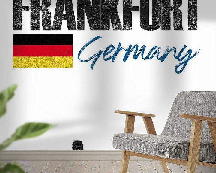 Sfeerimpressie behang: Frankfurt am Main Duitsland van Printed Artings