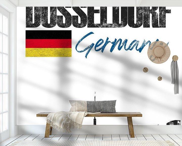 Sfeerimpressie behang: Düsseldorf Duitsland van Printed Artings