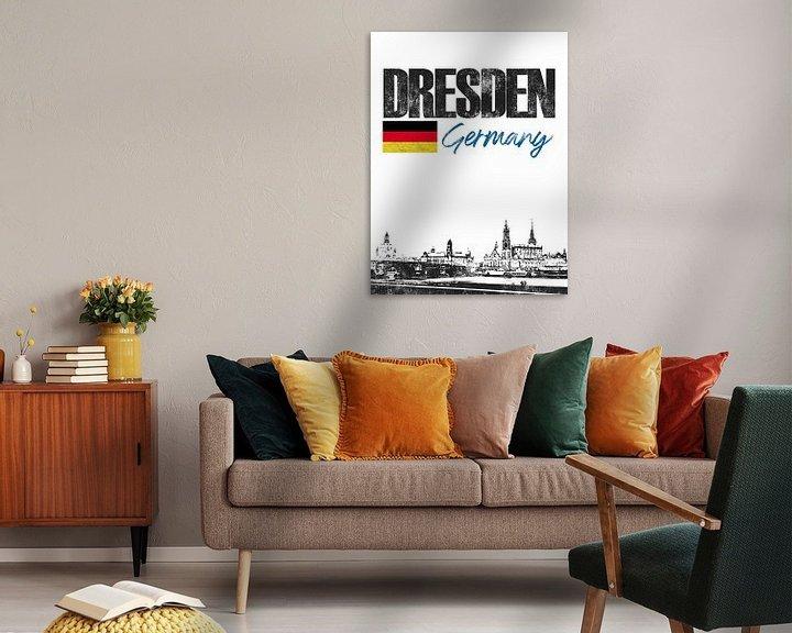 Sfeerimpressie: Dresden Duitsland van Printed Artings