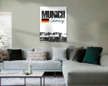 München Bayern Deutschland von Printed Artings