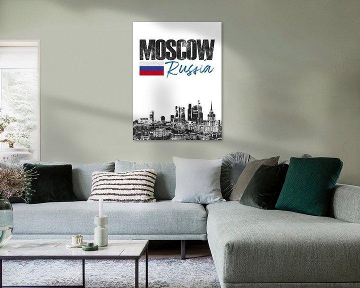 Sfeerimpressie: Moskou Rusland van Printed Artings