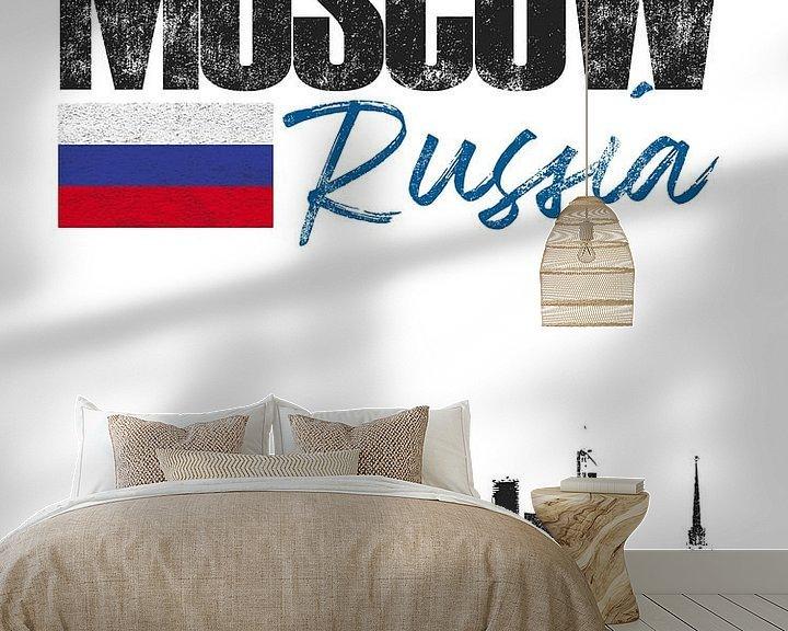Sfeerimpressie behang: Moskou Rusland van Printed Artings