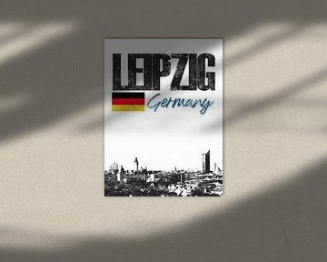 Leipzig Deutschland von Printed Artings