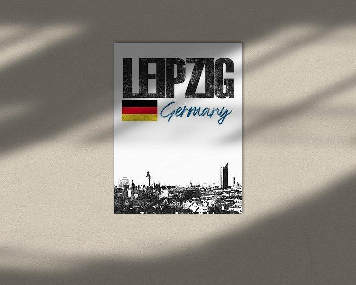 Sfeerimpressie: Leipzig Duitsland van Printed Artings