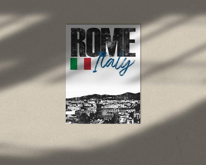 Sfeerimpressie: Rome Italië van Printed Artings