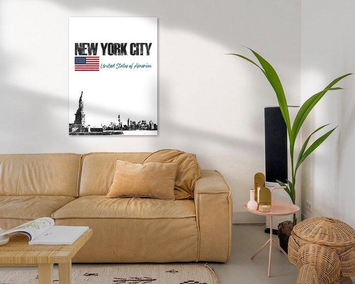 Sfeerimpressie: New York City Amerika van Printed Artings