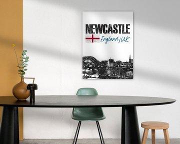 Newcastle England von Printed Artings