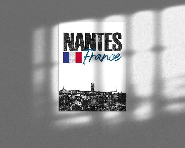 Sfeerimpressie: Nantes Frankrijk van Printed Artings