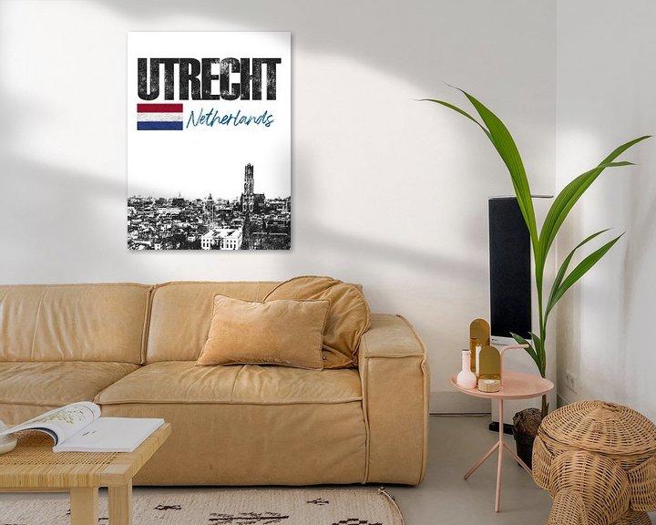 Sfeerimpressie: Utrecht Nederland van Printed Artings