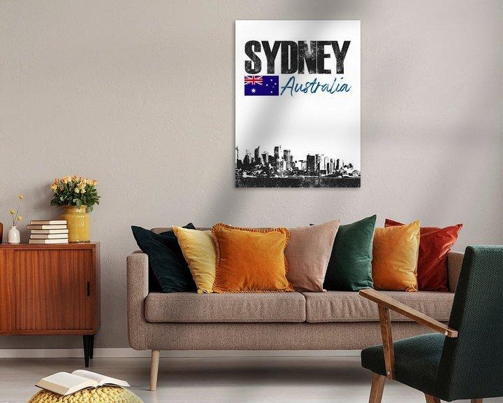 Sfeerimpressie: Sydney Australië van Printed Artings