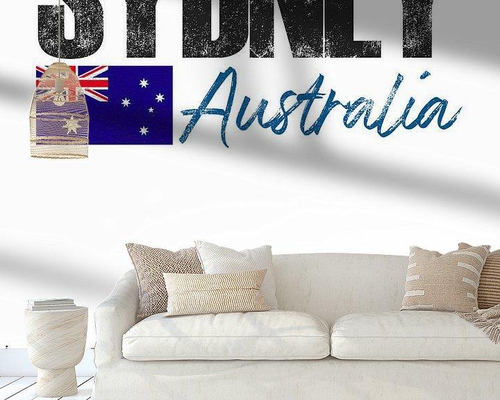 Sfeerimpressie behang: Sydney Australië van Printed Artings
