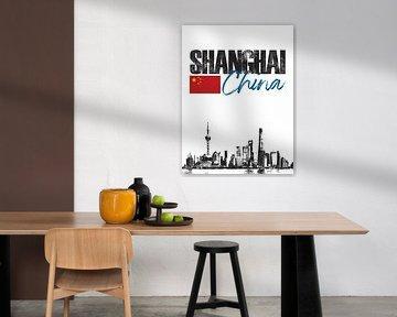Shanghai China von Printed Artings