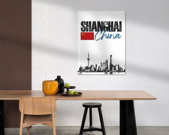 Sfeerimpressie: Shanghai China van Printed Artings