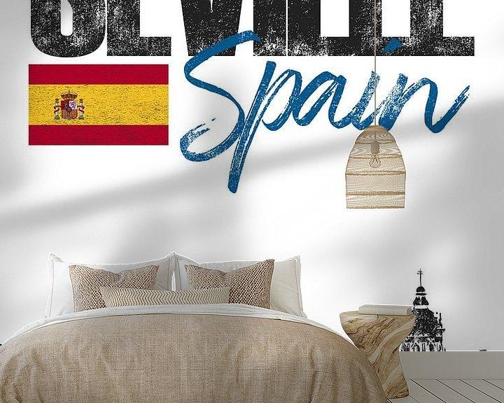 Sfeerimpressie behang: Sevilla Spanje van Printed Artings