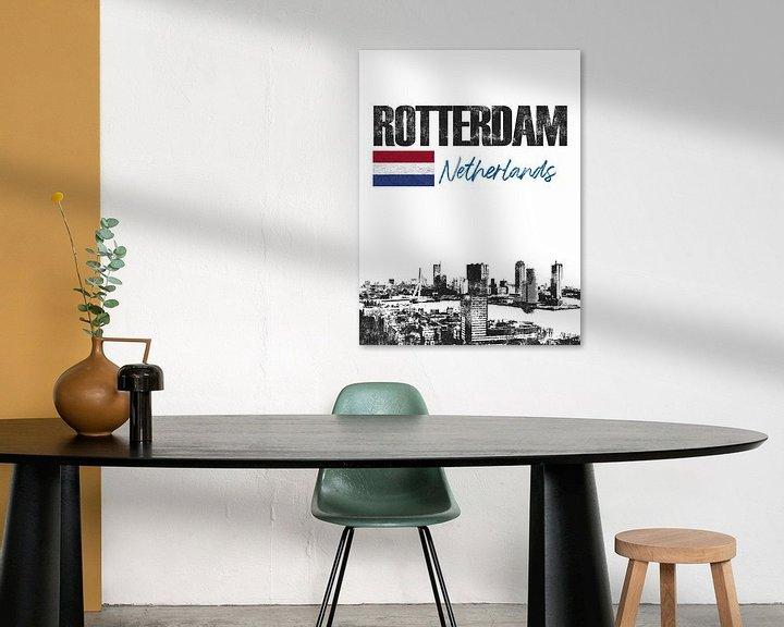 Sfeerimpressie: Rotterdam Nederland van Printed Artings