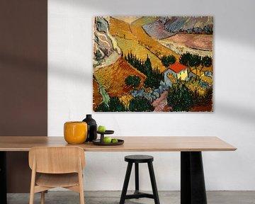 Landschaft mit Haus und Pflüger, Vincent van Gogh