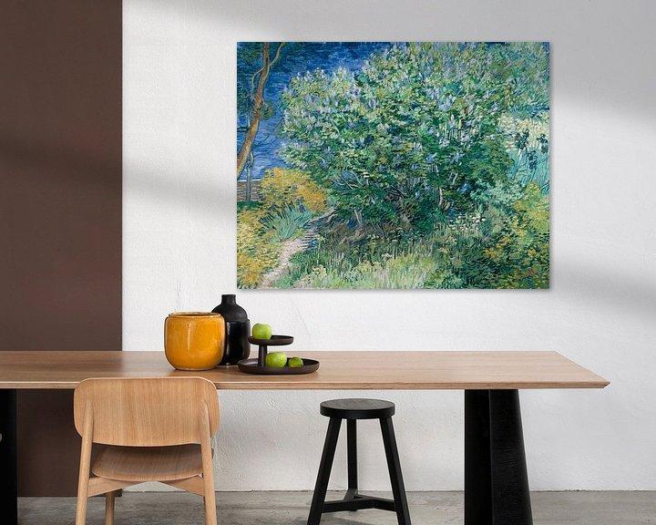 Beispiel: Fliederbusch, Vincent van Gogh