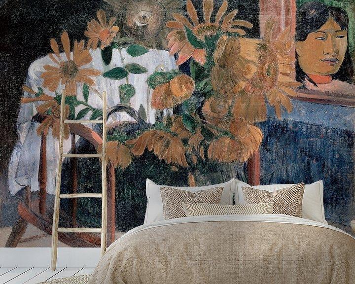 Sfeerimpressie behang: Zonnebloemen, Paul Gauguin