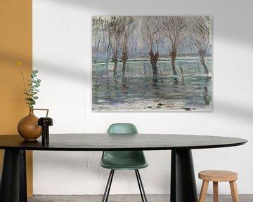 Overstromingswateren, Claude Monet