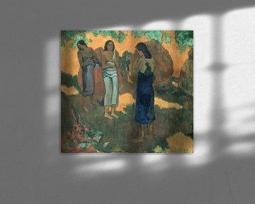 Drie Tahitiaanse vrouwen tegen een gele achtergrond, Paul Gauguin