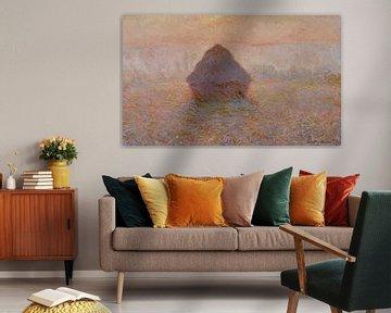 Grainstack, Sun in the Mist, Claude Monet...
