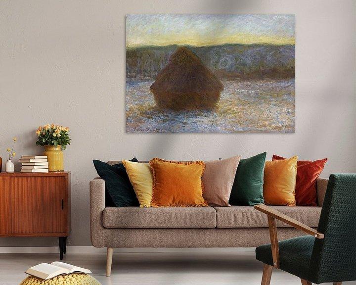 Beispiel: Grainstack, Tauwetter, Sonnenuntergang, Claude Monet