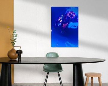 The artist in Blauw von Brian Morgan