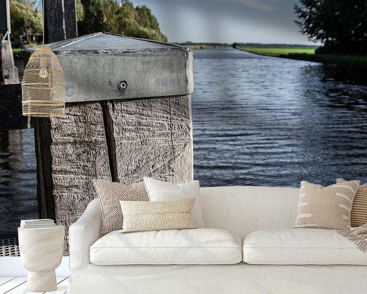 Sfeerimpressie behang: Havenpaal van Wouter van Rheenen