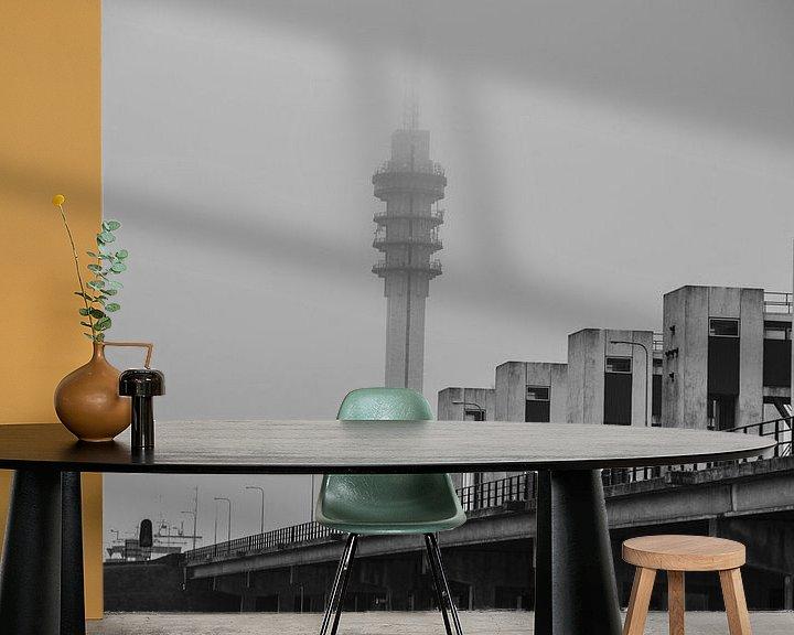 Sfeerimpressie behang: Radio toren van Wouter van Rheenen