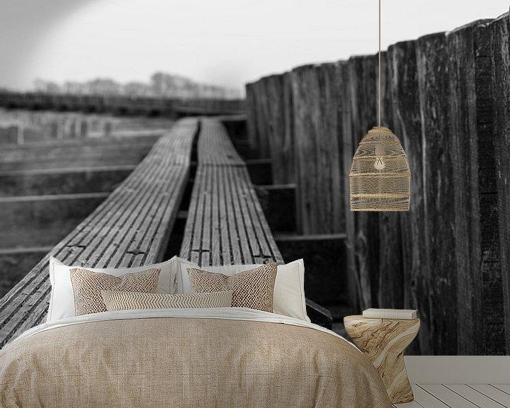 Sfeerimpressie behang: Water planken van Wouter van Rheenen