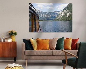 Blick vom Boot auf den See von Bohinj von Steven Marinus