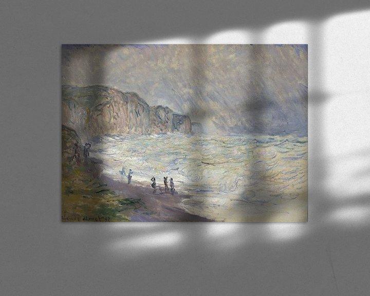 Beispiel: Schweres Meer in Pourville, Claude Monet