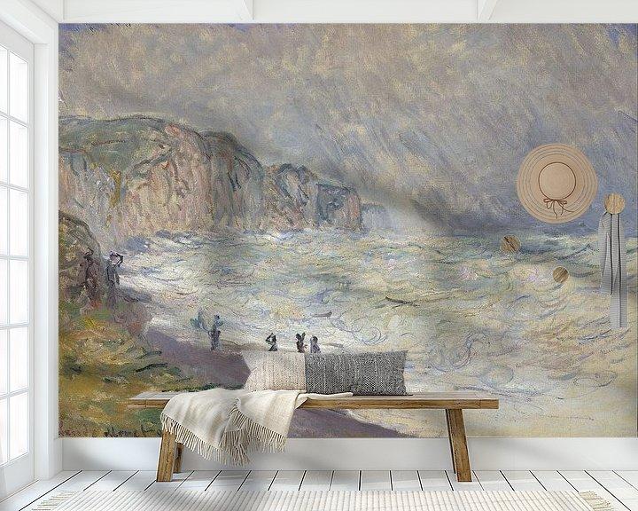 Beispiel fototapete: Schweres Meer in Pourville, Claude Monet