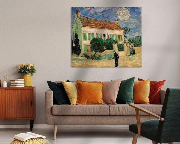 Beispiel: Weißes Haus bei Nacht, Vincent van Gogh