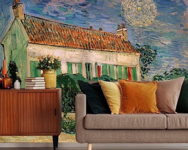 Beispiel fototapete: Weißes Haus bei Nacht, Vincent van Gogh