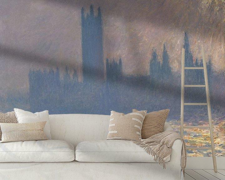 Beispiel fototapete: Parlamentsgebäude, Sonnenlichteffekt 1903, Claude Monet